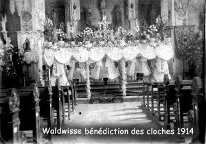 bénédiction des cloches de l'église de Waldwisse en 1914