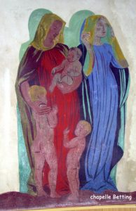 Peintures intérieures chapelle Betting